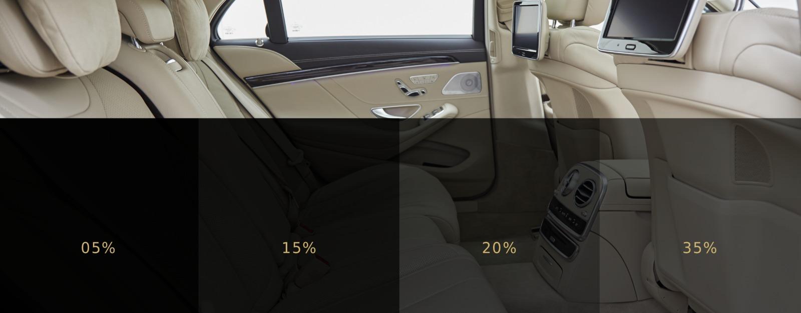 Grado oscuramento vetri auto